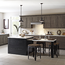 Herra and Prestley kitchen cabinets with clean lines and a subtle design