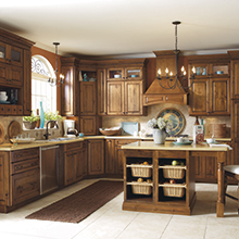 Alder kitchen cabinets with a homemade charm