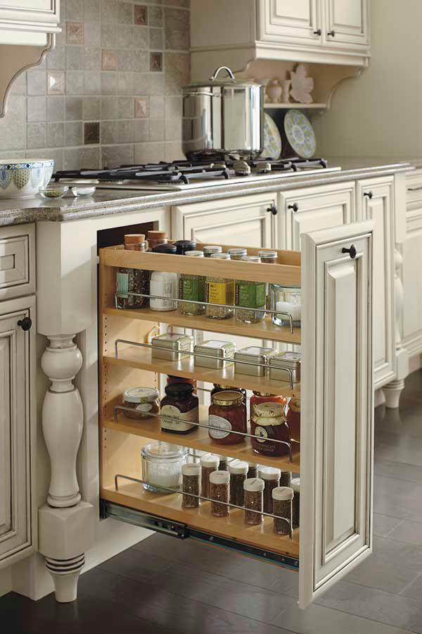 Off White Kitchen Cabinets With Dark Grey Accents Schrock