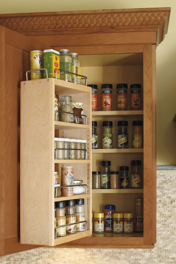 kitchen cabinet door spice rack wall spice rack cabinet schrock cabinetry 18595