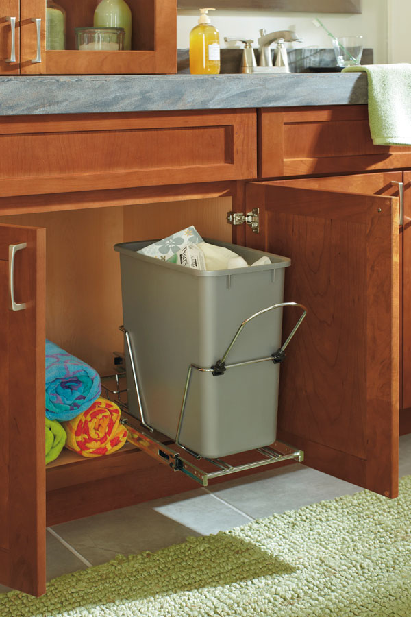 garbage cabinet kitchen vanity sink base cabinet with wastebasket schrock 15767