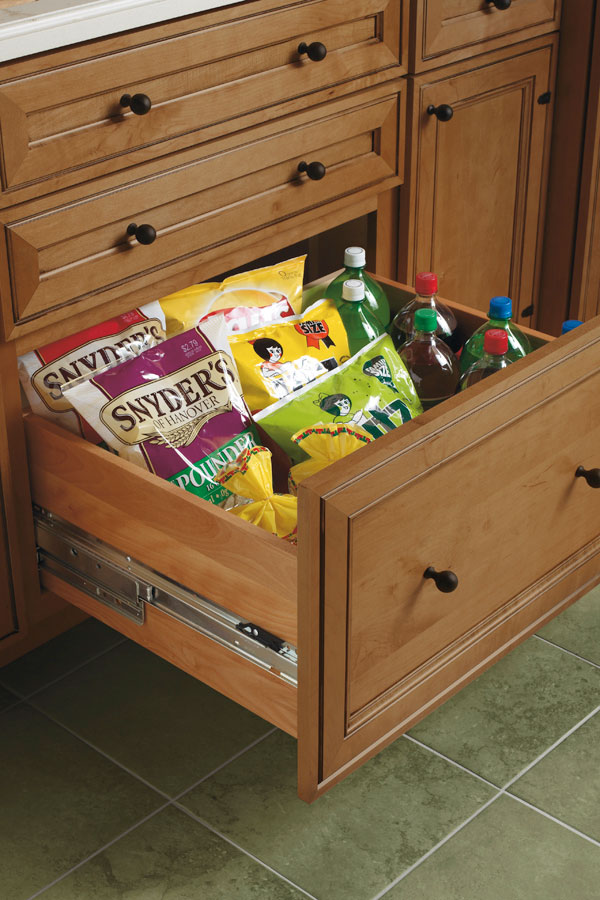 deep kitchen drawer organizers drawer base cabinet schrock cabinetry 6522