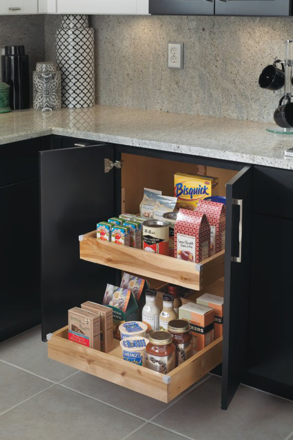 Great Base Cabinet With Roll Trays