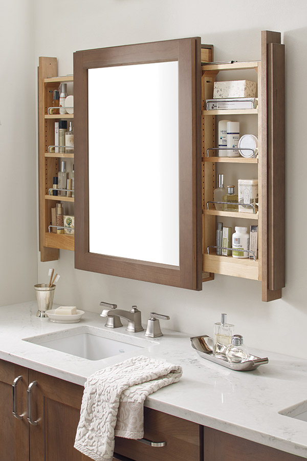 schrock bathroom cabinets vanity mirror cabinet with side pullouts schrock 25876