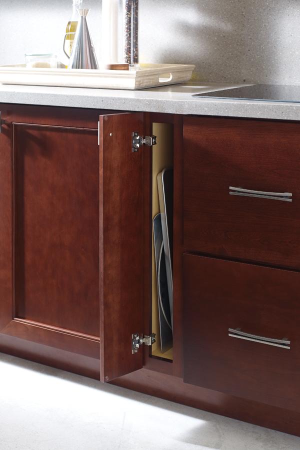 Kitchen cabinet organization products schrock 6 wide full height single door base cabinet workwithnaturefo