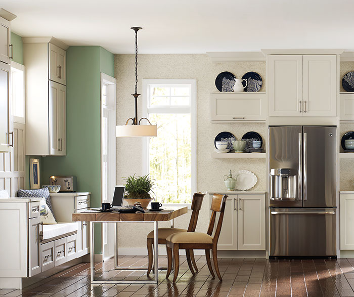 Off White Cabinets in a Transitional Kitchen