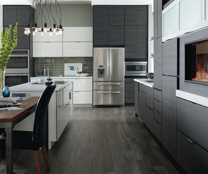 Laminate cabinets in a contemporary kitchen
