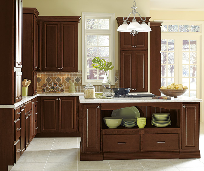 Elegant Dark Wood Kitchen