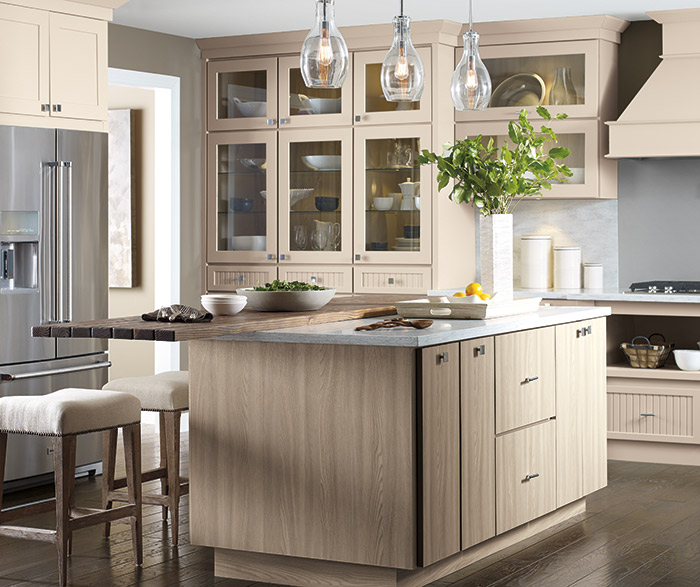 Beige Cabinets in a Transitional Kitchen