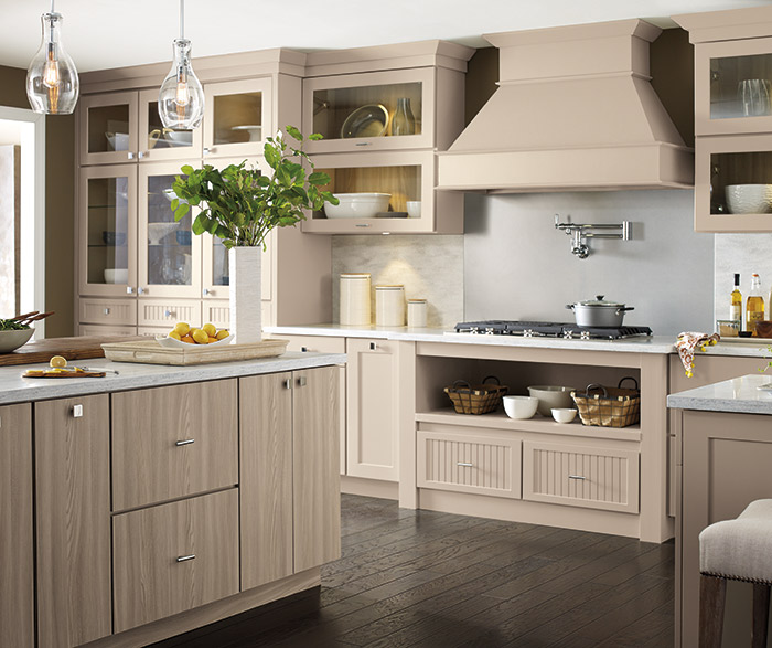 Huxley, Whittaker and Gallio beige cabinets in a transitional kitchen