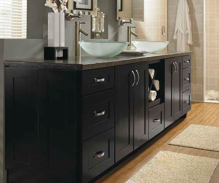 schrock bathroom cabinets contemporary black bathroom cabinets schrock 14356