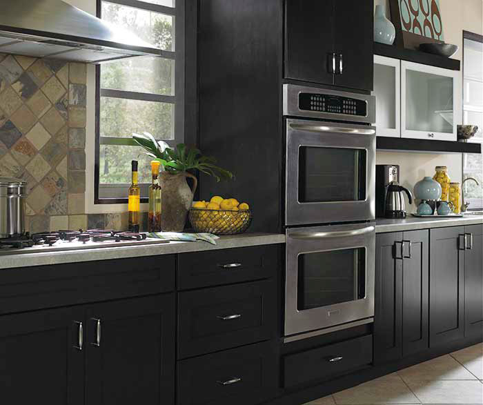 Contemporary Black Kitchen Cabinets