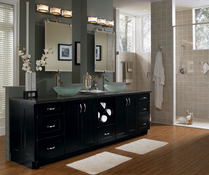 Contemporary Black Bathroom Cabinets