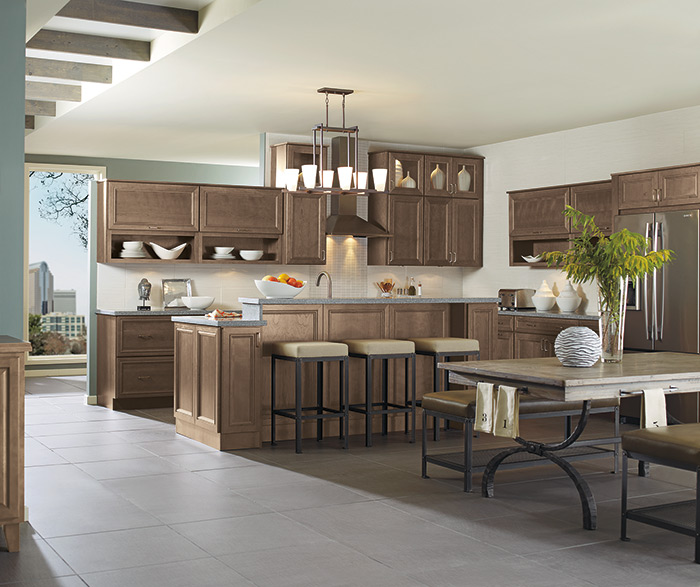 On-Trend Wood Tone Kitchen