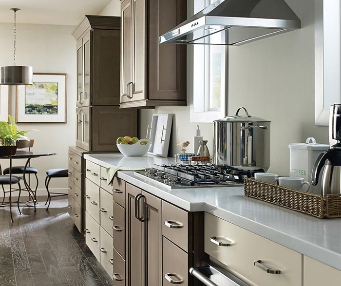... Kennedy Maple Kitchen Cabinets In Complementary Egret And Seal Finishes  ...