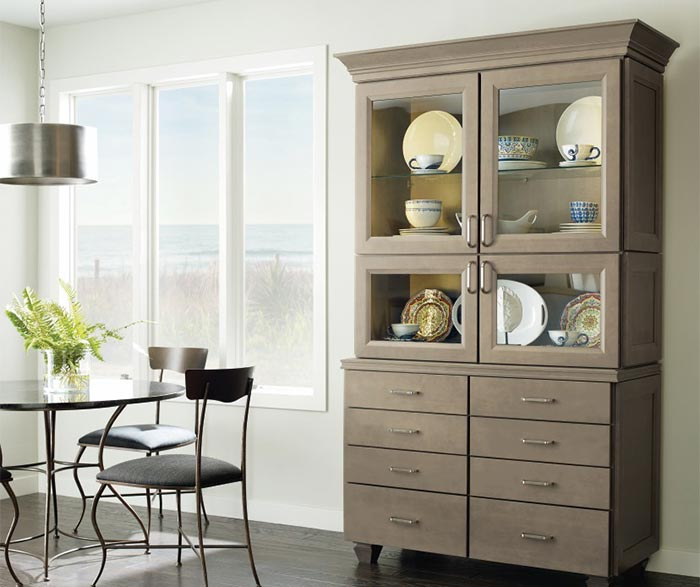 ... Kennedy Dining Room Cabinet In Maple Seal Finish