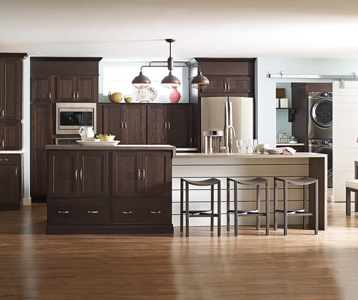 Thatch Cabinet Finish On Hickory Schrock Cabinetry