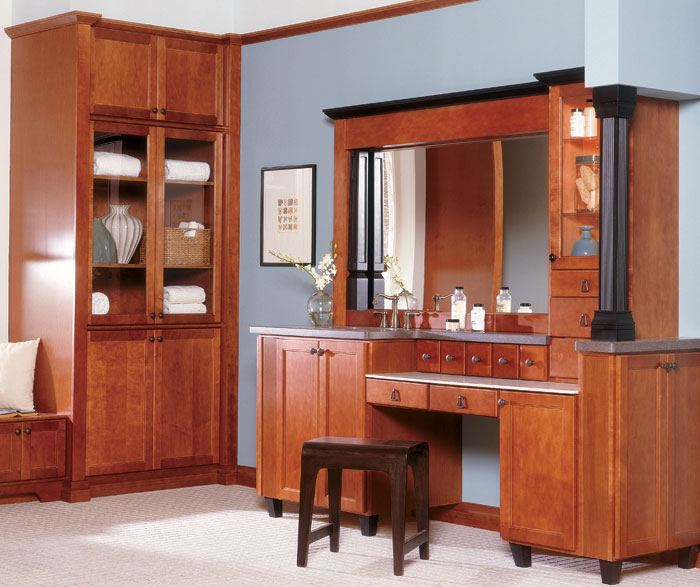 schrock bathroom cabinets maple bathroom cabinets schrock cabinetry 14356