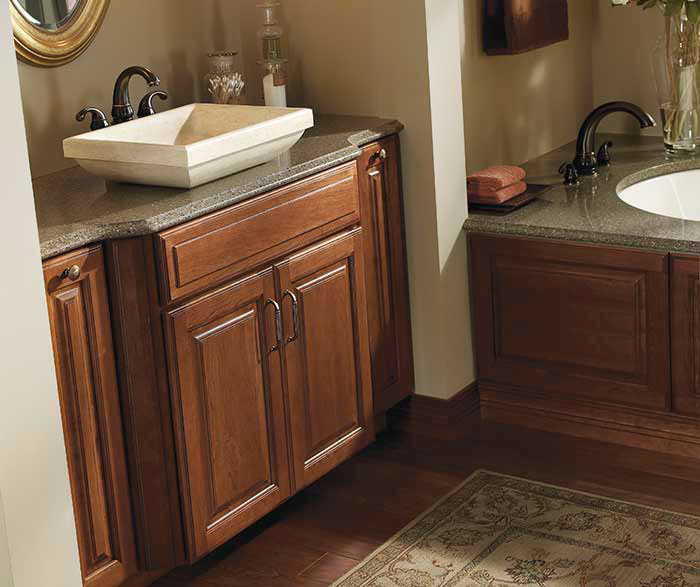 Coffee Cabinets in a Traditional Bathroom