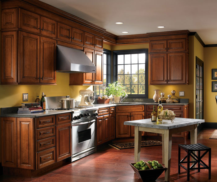 Traditional Cherry Kitchen Cabinets Schrock