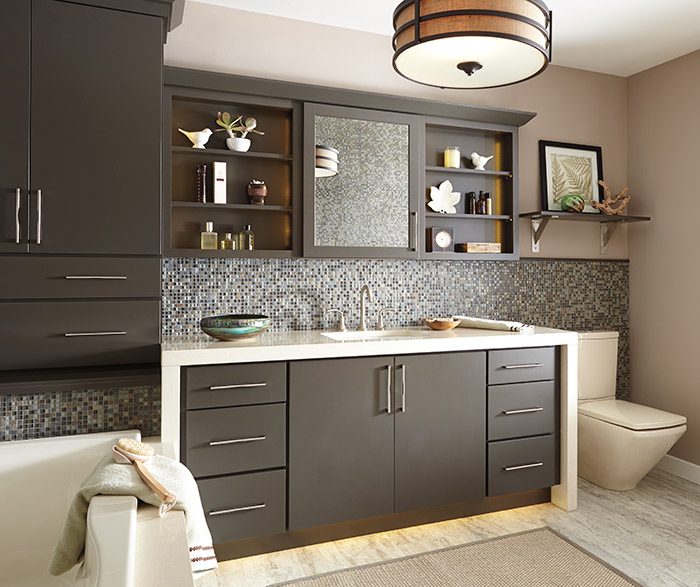 Painted Cabinets In A Casual Bathroom By Schrock Cabinetry