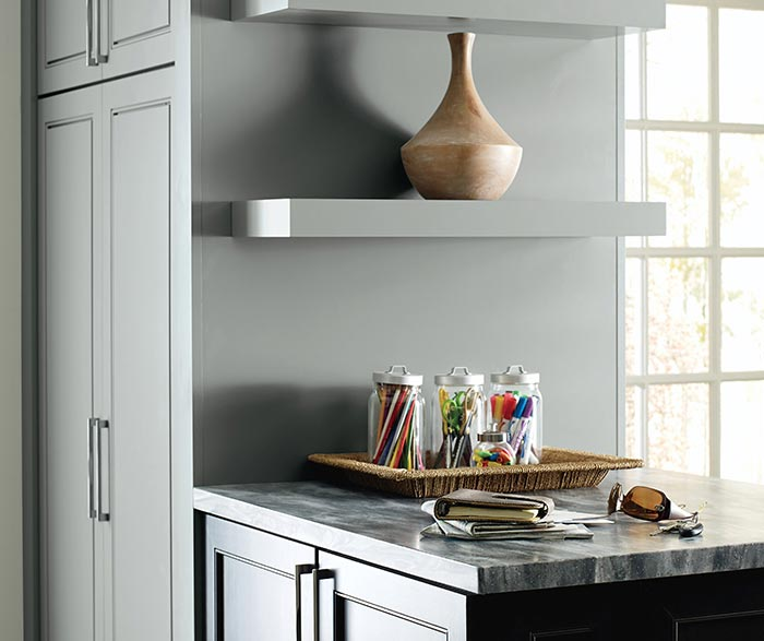 Dark Grey Laundry Cabinets