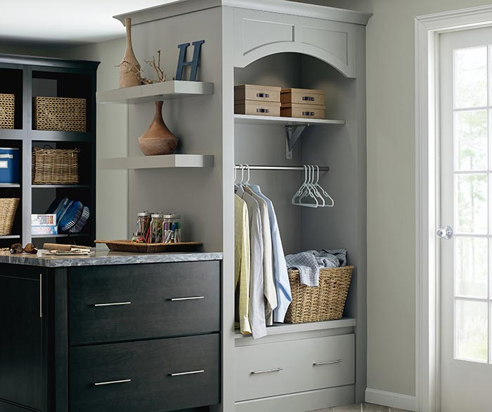 Prime Dark Grey Laundry Cabinets Schrock Cabinetry Best Image Libraries Sapebelowcountryjoecom