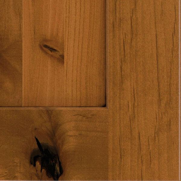 Palomino Glaze Cabinet Finish On Rustic Alder Schrock