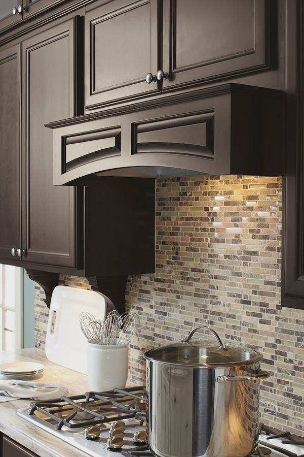 Arched Wood Hood Canopy Schrock Cabinetry