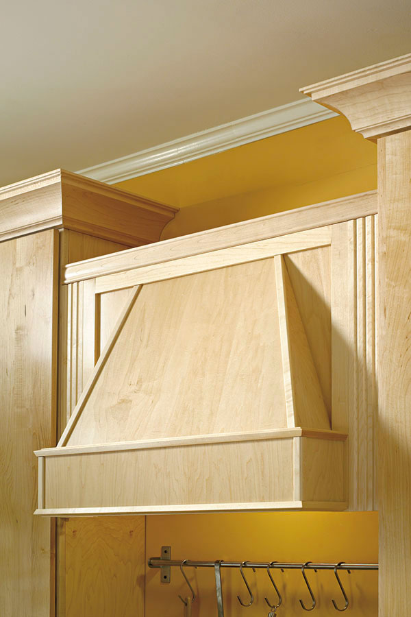 Tapered Wood Hood Schrock Cabinetry