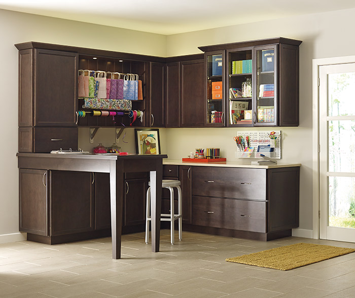 Craft room storage cabinets by Schrock Cabinetry